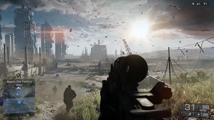 Battlefield 4 on the X1 ran at only 720P because of the lower performance of the GPU and the eSRAM
