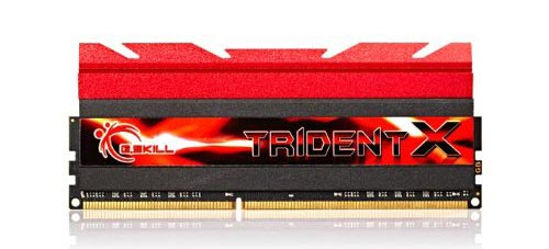 G. skill DDR3 2400 MHZ Trident Z RAM, featuring a nice low latency and 16GB dual kit