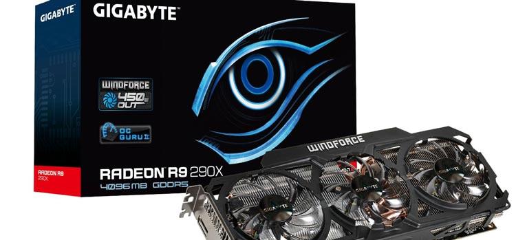 Gigabyte's AMD Radeon R9 290X WindForce GPU complete with aftermarket cooler