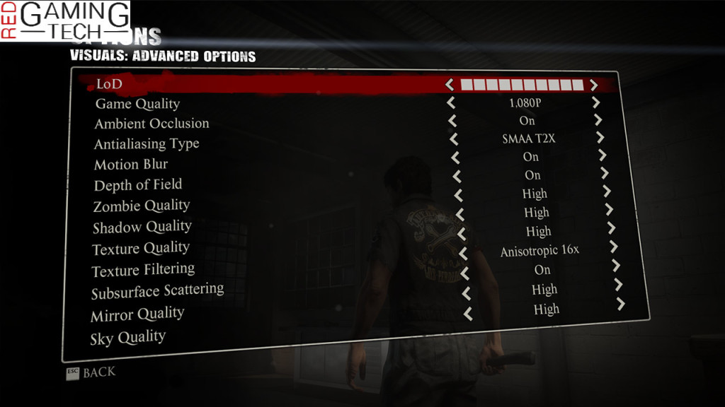 advanced graphics options in Dead Rising 3 - change that internal resolution for a serious quality or performance boost!