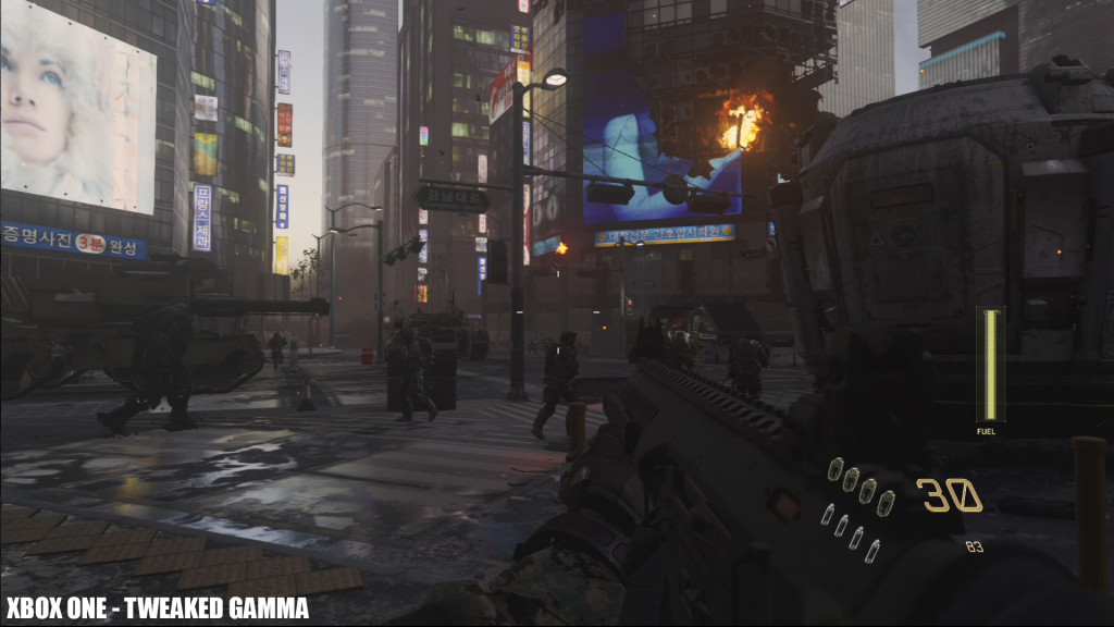 Call of Duty Advanced Warfare XBox One - Tweaked gamma