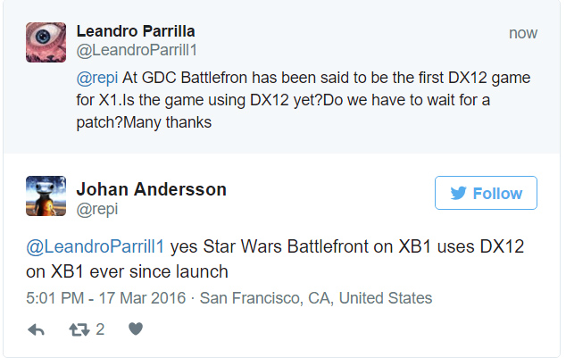 DirectX 12 For Xbox One Is Here | Star Wars BattleFront First DX12