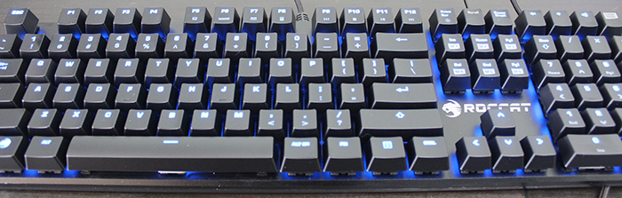 Roccat Suora with LEDs lit