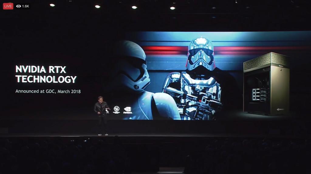 Nvidia's Siggraph LIvestream RTX